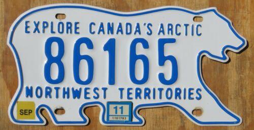 BEAR - NORTHWEST TERRITORIES CANADA license plate   2011  86165