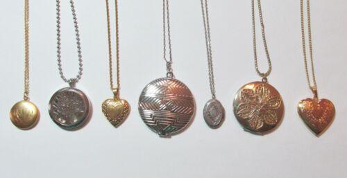 Mostly Vintage Lot All Locket Pendant Necklaces