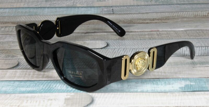 VERSACE VE4361 GB1 87 Black Grey 53 mm Unisex Sunglasses