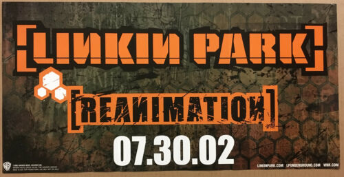 LINKIN PARK Rare 2002 PROMO POSTER RELEASE DATE 4 Reanimation CD NEVER DISPLAYED