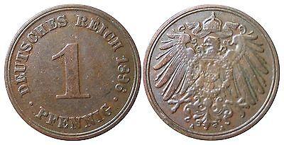 J 10   1 Pfennig Kaiserreich 1896 A in VZ-STG  502807-1