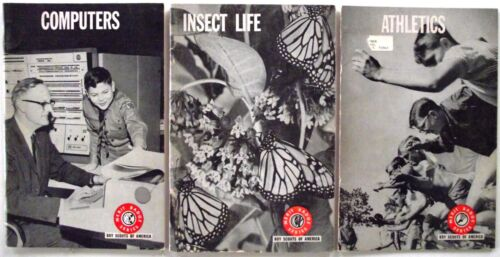 Boy Scouts of America Merit Badge Series Athletics Computers Insect Life 1960