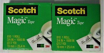 2 Refill Rolls Scotch Magic Invisible Tape 34 X 1000 Inches 1 Inch Core New