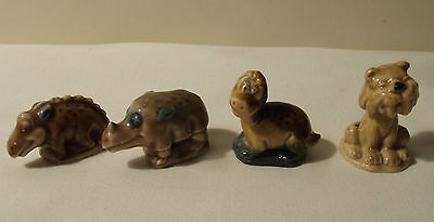 WADE PORCELAIN WHIMSIES FLINTSTONES CHRISTMAS 1965 TIGER DINO RHINO BRONTI for sale  Shipping to Ireland