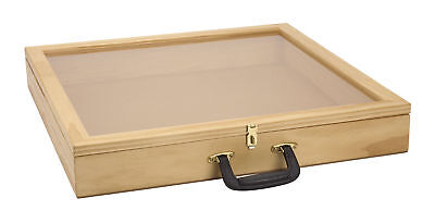 Display Case Wood View Counter Top Retail Show Jewelry Merchandise 24 X 24 X 3