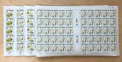 Botswana 1990 - SC#483-6 - Flowering Trees, Flora, Xmas - Set of 4 Sheets  - MNH
