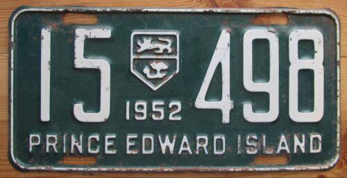 Prince Edward Island 1952 License Plate NICE QUALITY # 15-498