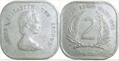 East Caribbean States 2000 2 Cents Uncirculated (KM11)