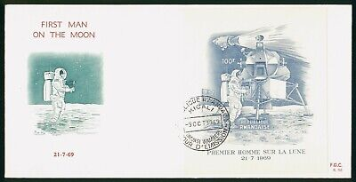 Mayfairstamps Rwandaise FDC 1969 First Man on Moon First Day Cover wwo_58529