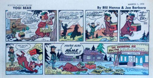 Yogi Bear by Eisenberg - Hanna-Barbera - color Sunday comic page - March 1, 1970