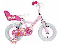 "(3099) 12"" APOLLO CUPCAKE Girls Kids Childs Bike Bicycle + STABILISERS Age: 3-4, 90-105 cm; PINK"