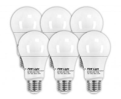 New 60 Watt Equivalent SlimStyle A19 LED Light Bulb 2700K Dimmable 6 Pack ES660 Home & Garden