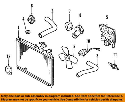 Mazda Oem 92 94 Protege Radiator Cooling Fan Motor B61f15150a