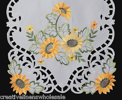 Fall Harvest Thanksgiving Table Cloth Runner Placemat Sunflower Daisy Holiday - Runner Table Cloth