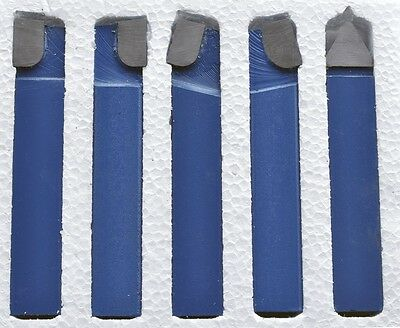38 Carbide Tip Tool 5 Pc Set Lathe Tool Milling Cutting Tools