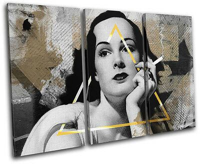 Vintage Collage Urban Grunge Vintage TREBLE Leinwand Wand Kunst Bild drucken - Urban Gold Wand
