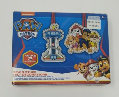 nickelodeon Paw Patrol Sew & Stuff Felt Decorations Kit Makes 2 for Ages 6+ New