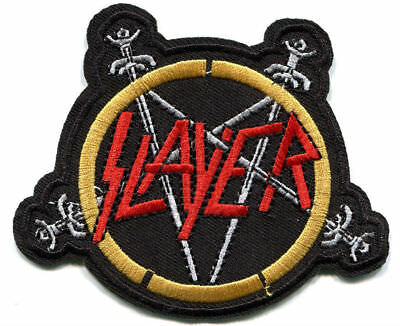 "SLAYER speed metal band embroidered patch 4""x3"" - big four death metal slaytanic"