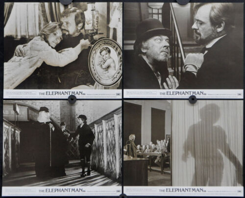 ELEPHANT MAN 1980 ORIG 8X10 UK (FOH) LOBBY CARD SET ANTHONY HOPKINS JOHN HURT