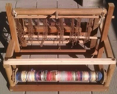 Weaving loom, handmade, tabletop size, vintage