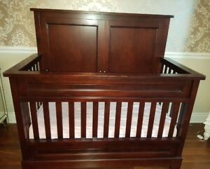 Bed converting to Crib, Solid Wwods