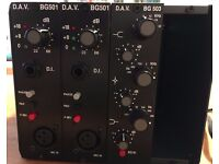 DAV Electronics BG 501 Preamp & 503 EQ 500 series