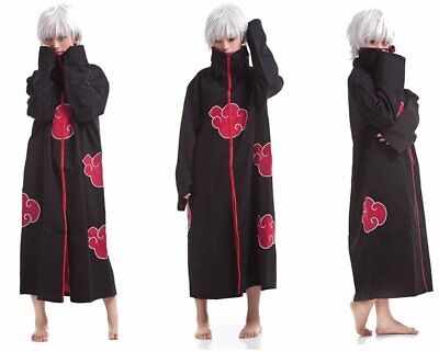 Akatsuki Halloween Costume (NARUTO Cosplay Costume Akatsuki Ninja Wind Uniform Cloak Anime Halloween)