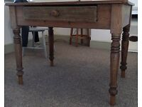 Vintage wooden desk/dining table for sale.