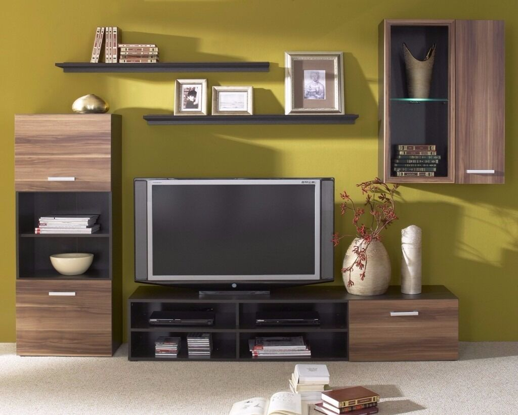 LIVING ROOM SET FARGO STYLISH CHEAP TV UNIT STORAGE LED LIGHTS