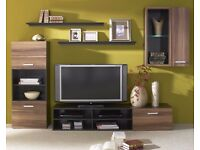 LIVING ROOM SET FARGO, STYLISH, CHEAP, TV UNIT, STORAGE, LED LIGHTS INCLUDED, DELIVERY AVAILABLE!!!
