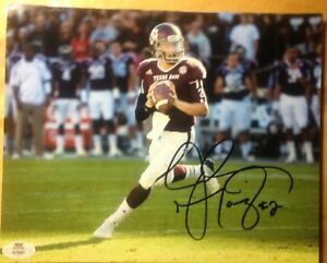 JOHNNY MANZIEL Signed Texas A&M Football 8x10 Glossy Photo w/COA