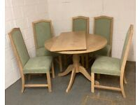 Dining room table & 5 chairs