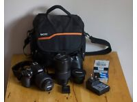 NIKON CAMERA D1500 with extras FOR SALE EXCELLENT CONDITION.