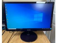 22inch Slim Philips HD Monitor HDMI,DVI,VGA Excellent condition Crystal Clear