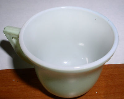 VINTAGE SMALL TEA CUP JADEITE MILK GLASS