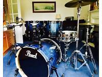Pearl Vision Birch Lacquer VBL 22'' Fusion Drum Kit & Accessories
