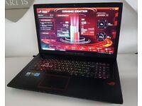"""ASUS ROG STRIX GL753VD, 17.3"""", i5-7300HQ 8GB DDR4 RAM ,1TB HDD + 128GB SSD, GTX 1050 4GB"""