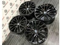"NEW BMW 21"" X5M STYLE ALLOY WHEELS - 5 X 112 - GLOSS BLACK"