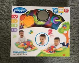 Playgro Activity Pillow - 2 in 1 Tummy Time Toy