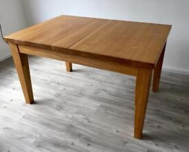 Solid oak dining room table