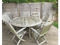 Outdoor furniture (table and chairs) for immediate collection - £5