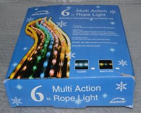 New 6M Multi Colour Multi Action Rope Lights for Indoor/Outdoor Use
