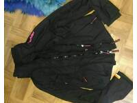 Ladies superdry coat black and pink