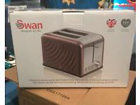 Swan toaster copper new in box