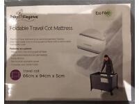 Foldable Travel Cot Mattress 66cm x 94cm x 5cm