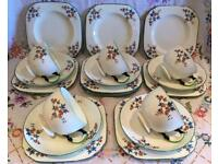 PRETTY VINTAGE BONE CHINA TEA SET
