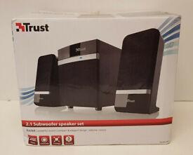 Trust 2.1 Subwoofer Speaker Set. 20W. USB powered, no wall socket needed
