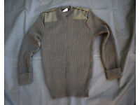 Genuine 80% Wool - British Army Issue Jersey / Pullover / Jumper (Large to XL)