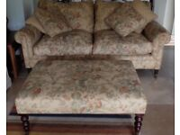 George Smith Sofa and Stool - Perfect condition - the sofa and stool have seen very little use.