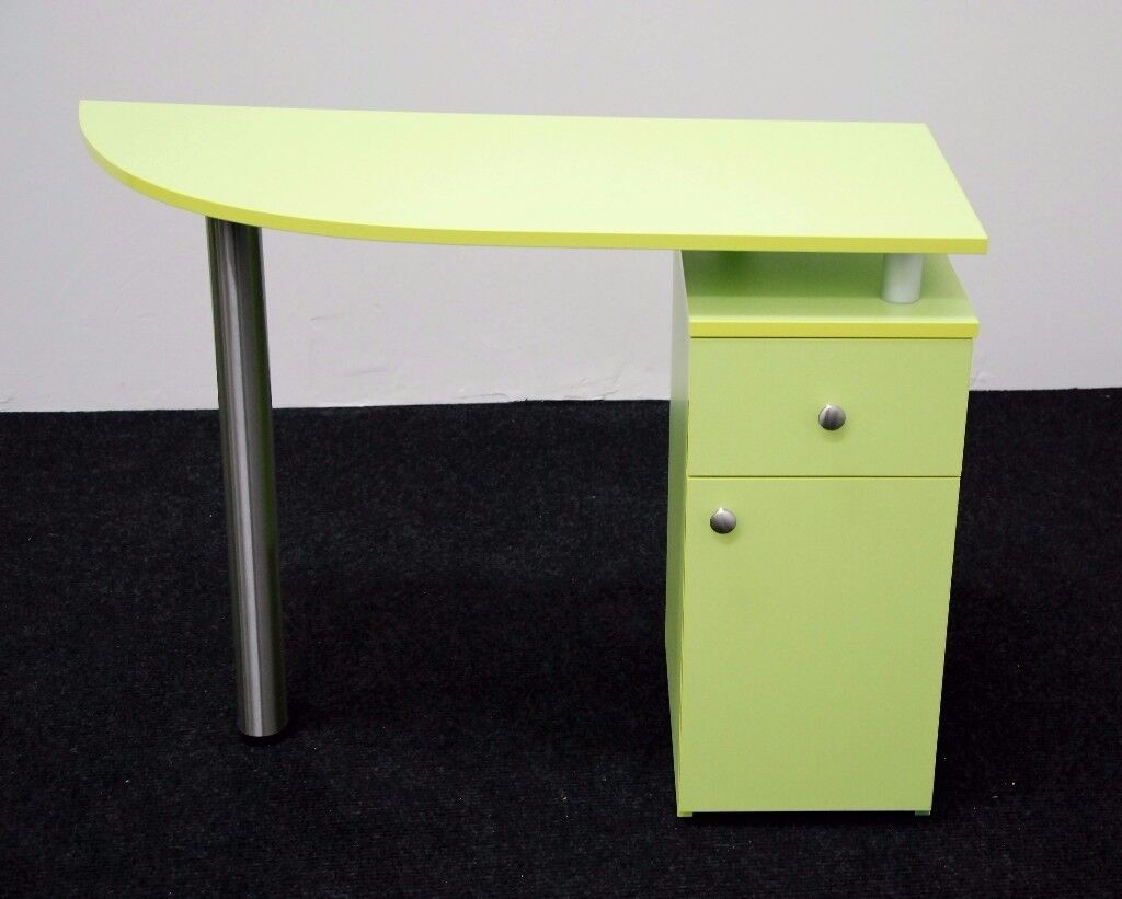 GREEN Manicure Technicians Table Station Nail Bar ,BRAND NEW,LIME GREEN